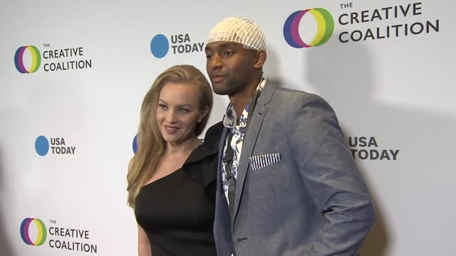 vídeos de stock, filmes e b-roll de wendi mcclendoncovey at the the creative coalition's 2019 #righttobeararts gala in washington dc at on may 09 2019 in washington dc - wendi mclendon covey