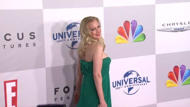 vídeos de stock, filmes e b-roll de wendi mclendoncovey at nbcuniversal's 69th annual golden globe afterparty in beverly hills ca on 1/15/12 - wendi mclendon covey