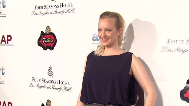 wendi mclendoncovey at thewrapcom preoscar party on 2/21/12 in hollywood ca - oscar party stock-videos und b-roll-filmmaterial