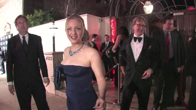 vídeos de stock, filmes e b-roll de wendi mclendoncovey leaving the 2012 critics choice movie awards after party in hollywood - wendi mclendon covey