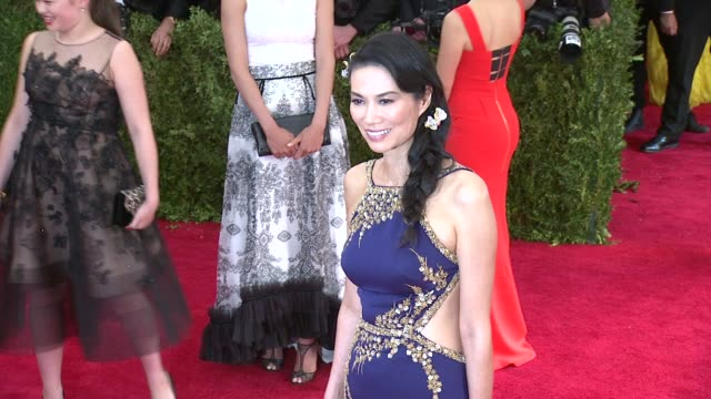 Wendi Murdoch at China Through The Looking Glass Costume Institute Benefit Gala Arrivals at Metropolitan Museum of Art on May 04 2015 in New York City
