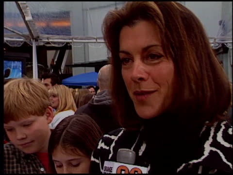 wendie malick at the 'racing stripes' premiere at grauman's chinese theatre in hollywood, california on january 8, 2005. - wendie malick stock videos & royalty-free footage