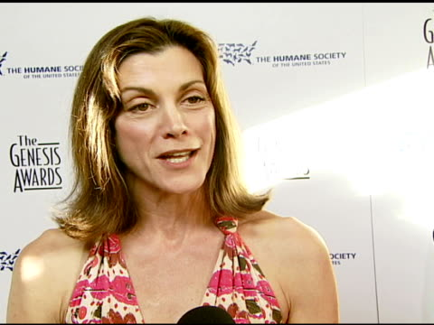 Wendie Malick being involved in the event for years and how animals are her closest friends at the 2008 Genesis Awards at the Beverly Hilton in...