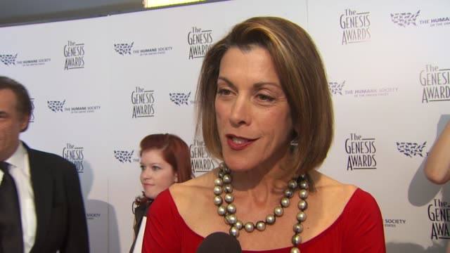 Wendie Malick on the event the honoree at the 24th Genesis Awards at Beverly Hills CA