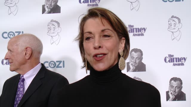 wendie malick on what it means to be honored with a carney award, why character actors deserve to be recognized, talks about her favorite character... - wendie malick stock videos & royalty-free footage