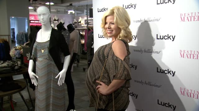 wendy bellissimo and megan hilty at the wendy bellissimo for destination maternity launch event on august 26, 2014 in new york city. - megan hilty stock videos & royalty-free footage