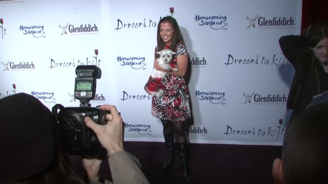 wendy diamond at the 7th annual 'dressed to kilt' charity fashion show at new york ny - dressed to kilt stock videos & royalty-free footage