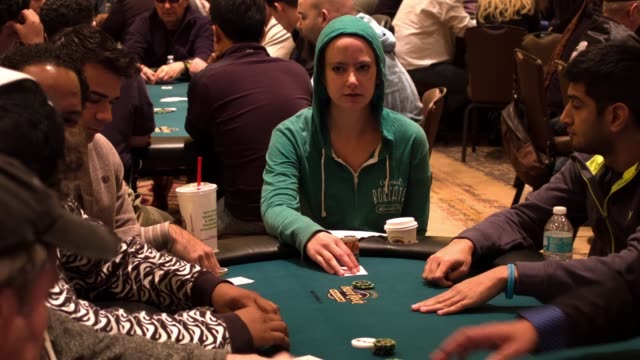 wendy freedman sits at a poker table during the opening day of the seminole hard rock poker showdown on march 27, 2014 in hollywood, florida. the... - hollywood florida stock videos & royalty-free footage