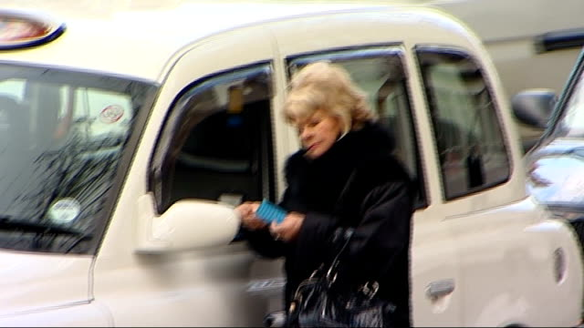 wendy richard funeral actress lorrayne chase arriving / judith chalmers arriving / actress anna wing arriving / people arriving / actor frank... - judith chalmers stock videos & royalty-free footage