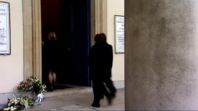 wendy richard funeral; england: london: marylebone: ext people arriving for funeral of eastenders actess wendy richard / members of the eastenders... - eastenders stock videos & royalty-free footage