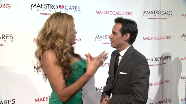 wendy williams and marc anthony at maestro cares first annual gala dinner - new york at cipriani, wall street on february 18, 2014 in new york city. - cipriani manhattan stock videos & royalty-free footage