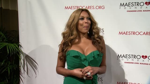 wendy williams at maestro cares first annual gala dinner - new york at cipriani, wall street on february 18, 2014 in new york city. - cipriani manhattan stock videos & royalty-free footage