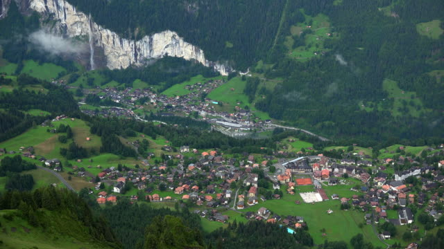 Wengen and Lauterbrunnen Valley, Bernese Alps, Switzerland
