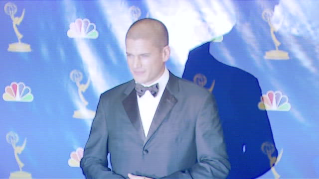 wentworth miller, presenter at the 2006 emmy awards press room at the shrine auditorium in los angeles, california on august 27, 2006. - shrine auditorium stock-videos und b-roll-filmmaterial