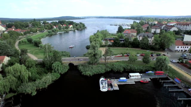 werder havel aerial view - potsdam brandenburg stock videos & royalty-free footage