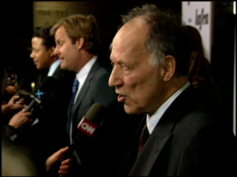 werner herzog at the 2006 lafca los angeles film critic's association awards at park hyatt in century city, california on january 17, 2006. - critic stock videos & royalty-free footage