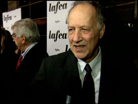 werner herzog at the 2006 lafca los angeles film critic's association awards at park hyatt in century city, california on january 17, 2006. - 評論家点の映像素材/bロール