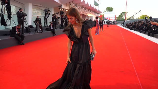 weronica rosati arrives on the red carpet ahead of the closing ceremony red carpet during the 77th venice film festival on september 12, 2020 in... - film festival stock videos & royalty-free footage