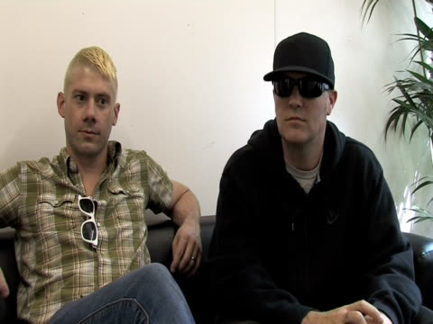 wes borland and fred durst, limp bizkit on how this gig differs from their usual ones at the sonisphere day two at stevenage england. - limp bizkit stock videos & royalty-free footage