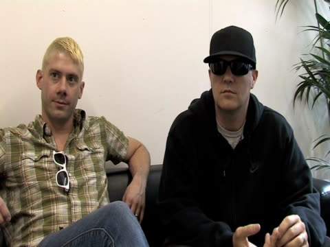 wes borland and fred durst, limp bizkit on whether there can be two metal festivals in one season at the sonisphere day two at stevenage england. - limp bizkit stock videos & royalty-free footage