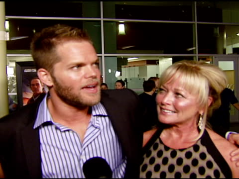 Wes Chatham on the premiere working with the cast as a first time actor his military experience and the message of the film at the 'In the Valley of...