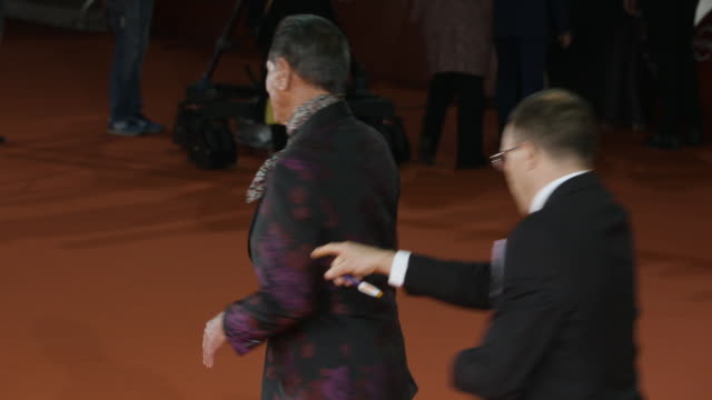 wes studi at 'hostiles' red carpet rome film fest on october 26 2017 in rome italy - rome film fest stock videos and b-roll footage