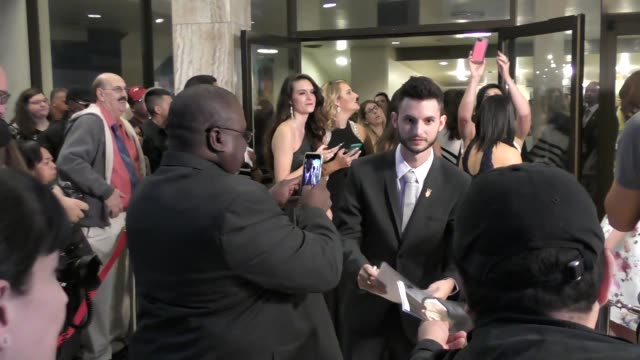 wesley elder greets fans outside the matchbreaker premiere at arclight cinemas cinerama dome in hollywood celebrity sightings in los angeles ca on - cinerama dome hollywood stock videos & royalty-free footage