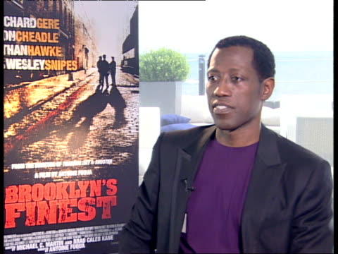Wesley Snipes on on his character Caz and his relationship with Don Cheadle's character Tango at the Brooklyn's Finest Interviews Venice Film...