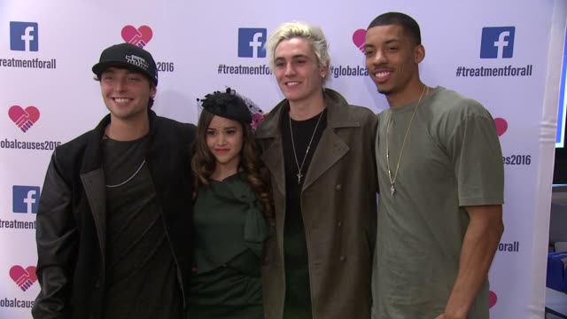 wesley stromberg sammy wilkinson megan nicole and melvin gregg at ricki lake and friends team up with pepfar to launch #treatmentforall on facebook a... - retrovirus stock videos and b-roll footage