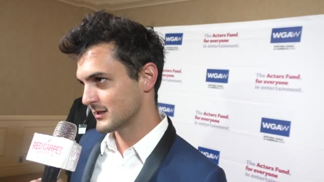 INTERVIEW Wesley Taylor talks about the Orlando shootings at The Actors Fund's Tony Awards Viewing Gala at The Beverly Hilton Hotel in Beverly Hills...