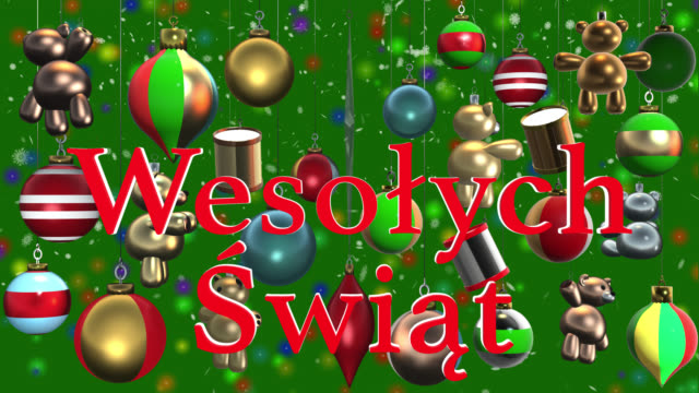 Wesoych wit polish greeting with christmas decorations and snow wesoych wit polish greeting with christmas decorations and snow stock footage video getty images m4hsunfo