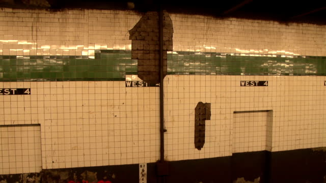 west 4th street subway station nyc - bad condition stock videos & royalty-free footage