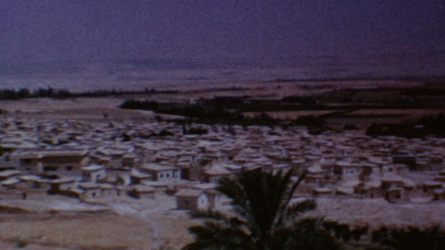 vídeos de stock e filmes b-roll de west bank view on august 10 1967 in jericho palestine - palestino