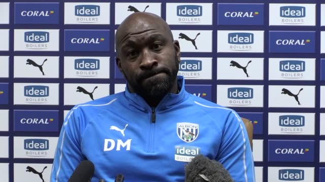 West Brom head coach Darren Moore speaks to the media ahead of their local derby at home to Aston Villa