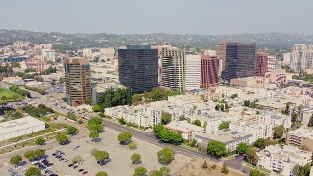 west la buildings and residential area - westwood neighborhood los angeles stock videos & royalty-free footage
