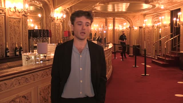 west end performers park their rivalries to gather for a special celebration of musicals called the shows must go on at the palace theatre in central... - ウェストエンド点の映像素材/bロール