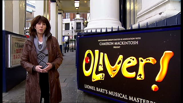 west end theatre ticket sales expected to be hit by rising cost of living in 2011; julian bird interview sot drury lane: ext reporter to camera... - ロイヤルフェスティバルホール点の映像素材/bロール
