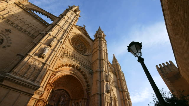 West Facade of La Seu Cathedral, Palma de Mallorca, Majorca, Balearic Islands, Spain