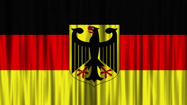 west german national flag (loopable) - east germany stock videos and b-roll footage