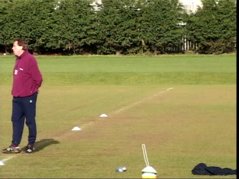 EXT LMS West Ham FC Manager Harry Redknapp along on training pitch PAN