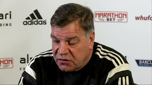 sam allardyce press conference; england: essex: chigwell: int sam allardyce press conference sot - sam west stock videos & royalty-free footage