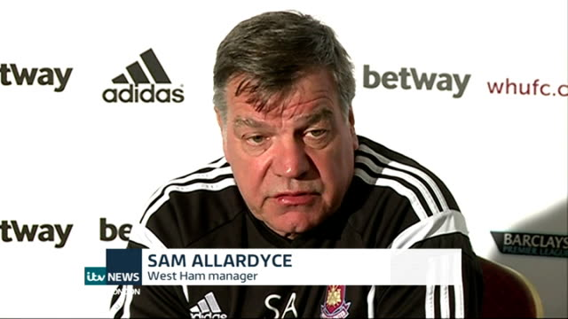 sam allardyce press conference; england: london: chadwell heath: int sam allardyce press conference sot - on upcoming match against arsenal - sam west stock videos & royalty-free footage