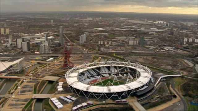 West Ham to move into Olympic stadium ENGLAND London Stratford of Olympic Stadium and ArcelorMittal Orbit sculpture including 'London 2012' on race...