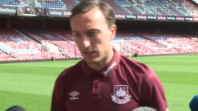 general views of upton park / interviews ahead of final match at the ground **please mark noble along and speaking to press - ウェストハム・ユナイテッドfc点の映像素材/bロール
