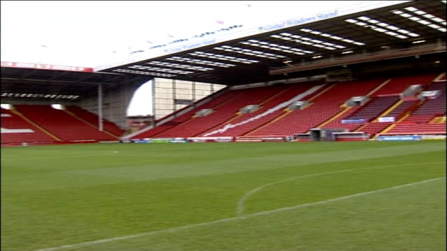 west ham united transfer row: sheffield united to take legal action; general view inside bramall lane - sheffield stock videos & royalty-free footage