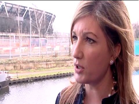 west ham vicechairman karren brady comments following the announcement from the olympic park legacy company that west ham have succeeded in their bid... - カレン ブラディ点の映像素材/bロール