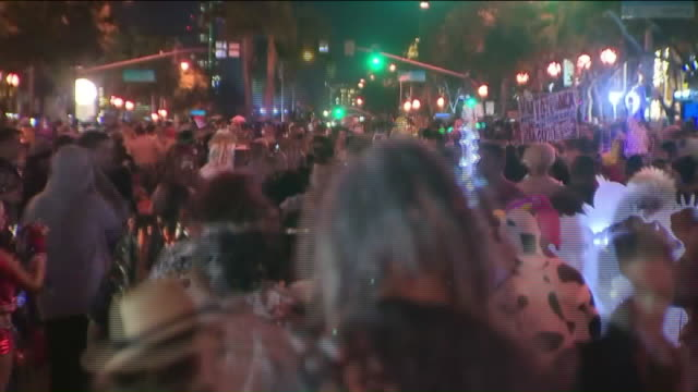 west hollywood, ca, u.s. - scenes from halloween carnaval, on thursday, october 31, 2019. - west hollywood stock videos & royalty-free footage