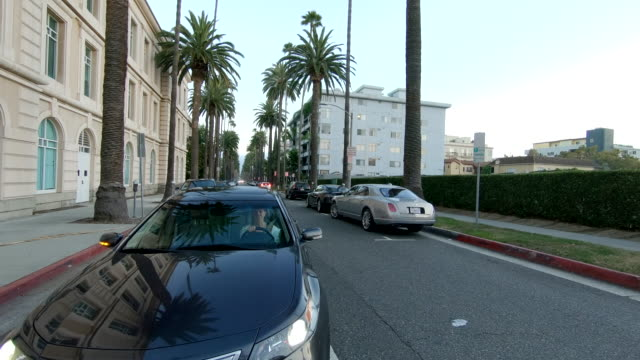 west hollywood time lapse rear view california driving through fast - west hollywood stock videos & royalty-free footage