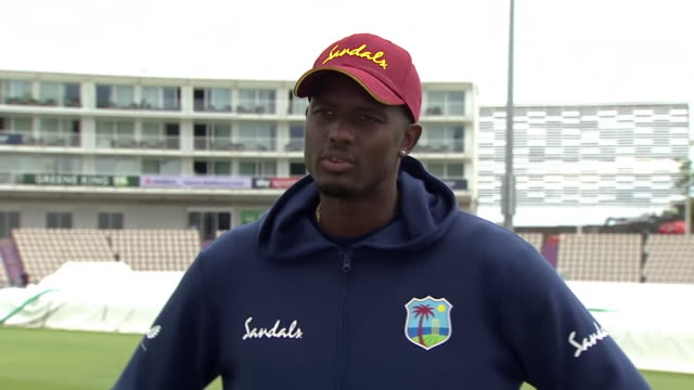 west indies captain jason holder saying players have built stronger relationships in quarantine before the test series with england - cooperation stock videos & royalty-free footage