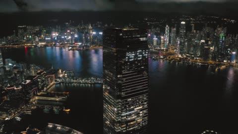 west kowloon, international commerce centre hong kong - hong kong island stock videos & royalty-free footage
